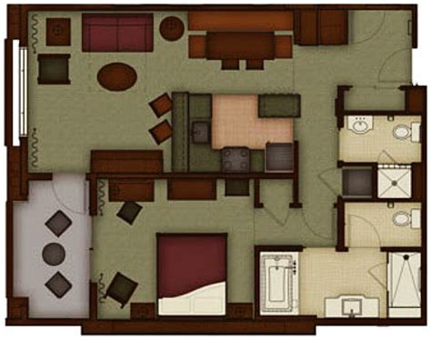 disneyland hotel 1 bedroom suite floor plan the villas at disney s grand californian dvc rental store