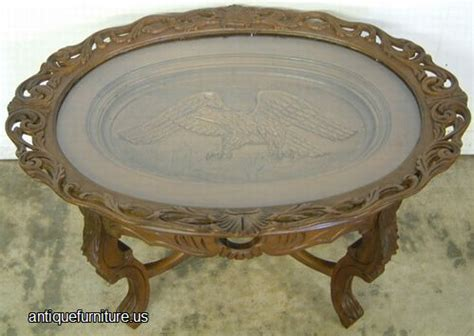 antique ornate eagle coffee table at antique furniture us