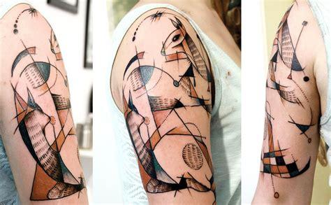 cubism tattoo 40 astounding cubism tattoos