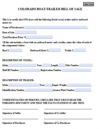 used boat trailers in ct free colorado boat trailer bill of sale form pdf word