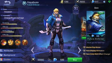 Mobile Legend Hayabusa The Blues mobile legends hayabusa item skill build and strategy guide fanaticbase
