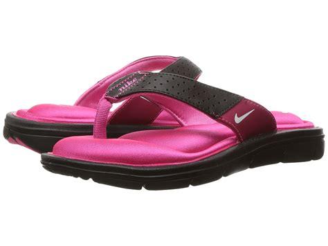 nike comfort thong nike comfort thong black white vivid pink zappos com