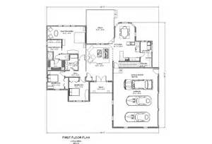 Single Level Ranch House Plans Traditional Ranch House Plan Single Level One Story Ranch