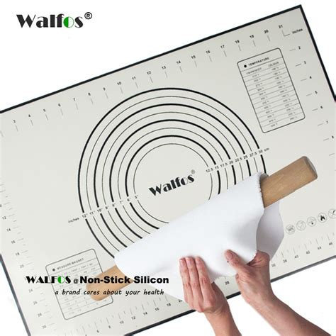 aliexpress buy walfos 40 60cm large size of silicone baking mat attach scale kneading
