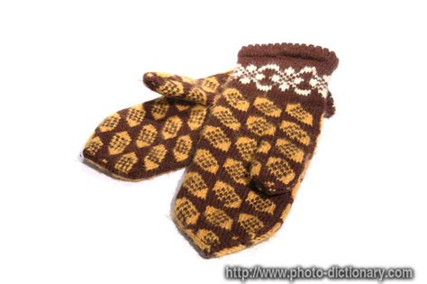 define knitted knitted gloves photo picture definition at photo