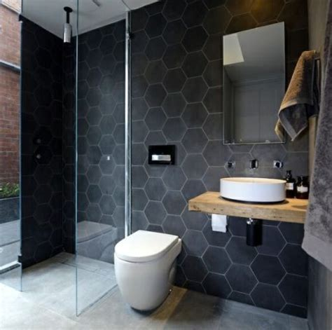 Mens Bathroom Ideas 1000 Images About The Mens Room On Pinterest Honeycomb Tile Decorating Ideas And Black Bathrooms