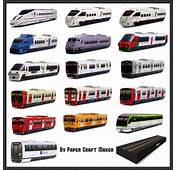Lots Of Japanese Train Paper Models Free Templates Download