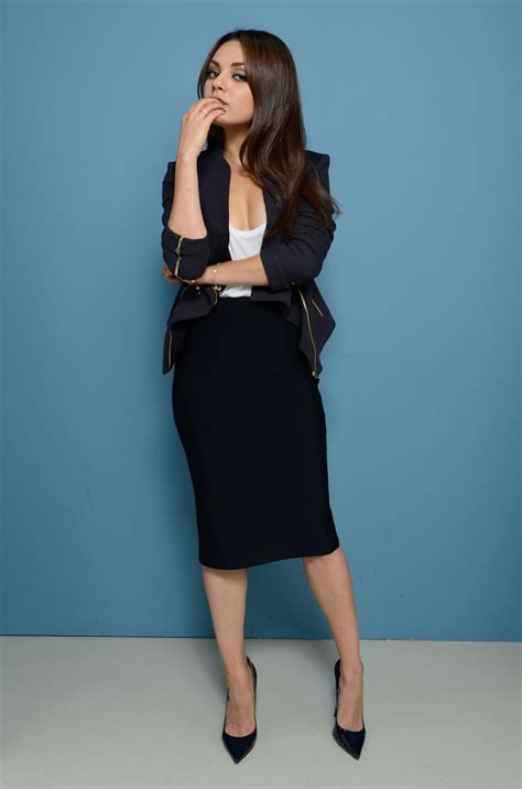 Hairstyle That Will Suit A Midi | mila kunis style my style pinterest skirts skirt