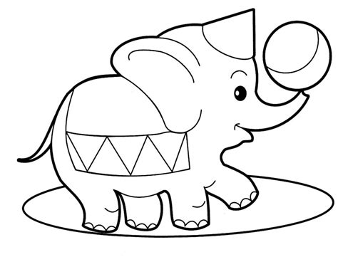 Coloring Page Animals by Baby Elephant Coloring Pages To And Print For Free
