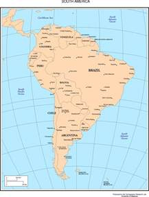 south america countries and capitals map capitals and countries of south america map