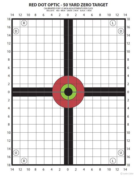 free printable moa targets zeroing the m4 rifle page 9