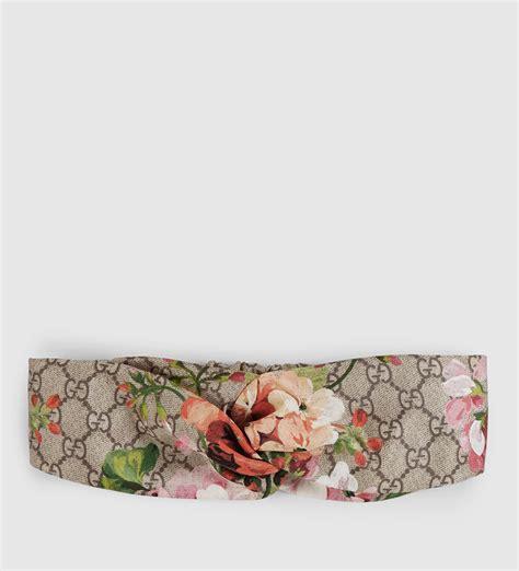 Gucci Tiara gucci blooms print silk headband in pink lyst
