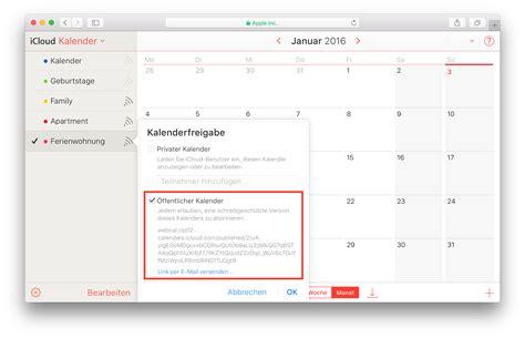 Icloud Calendar 214 Ffentlichen Kalender In Icloud Erstellen Sartison