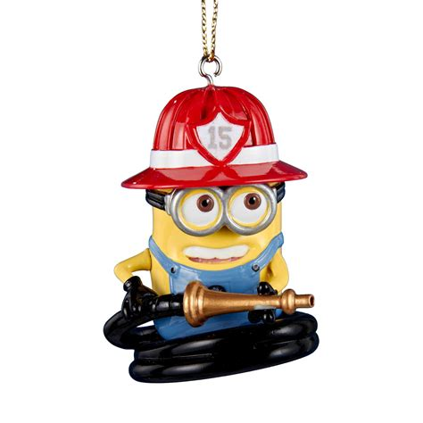 despicable me fire fighter christmas ornament seasonal