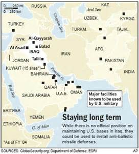 us bases middle east map extended u s presence in iraq world news mideast n