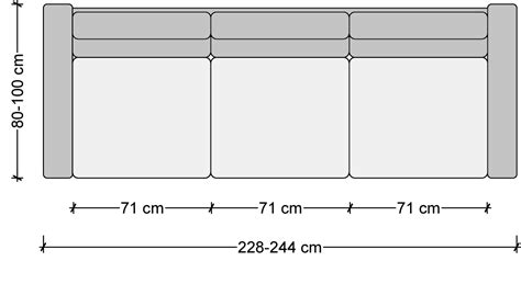 sofa length sofa dimensions