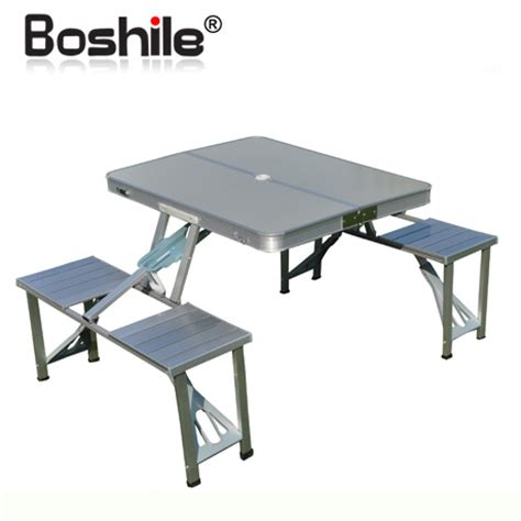 Folding Garden Table And Chairs Free Shipping Boshile Outdoor Folding Tables And Chairs Set Aluminum Alloy Folding Dining Table