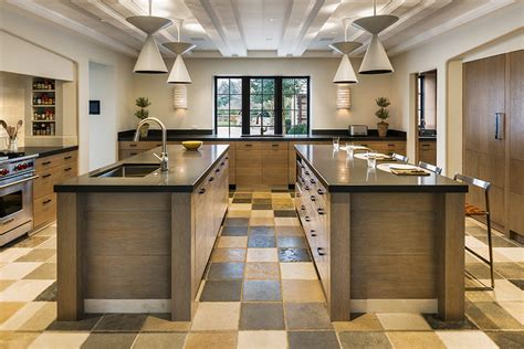 double kitchen islands seeing double the double kitchen island abode