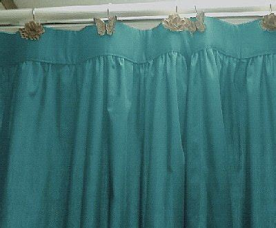solid teal colored shower curtain