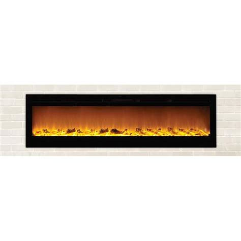 Recessed Electric Fireplace Touchstone Sideline 72 Inch Wall Mounted Recessed Electric Fireplace Black 80015