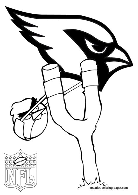 nfl cardinals coloring pages cardnels football free colouring pages