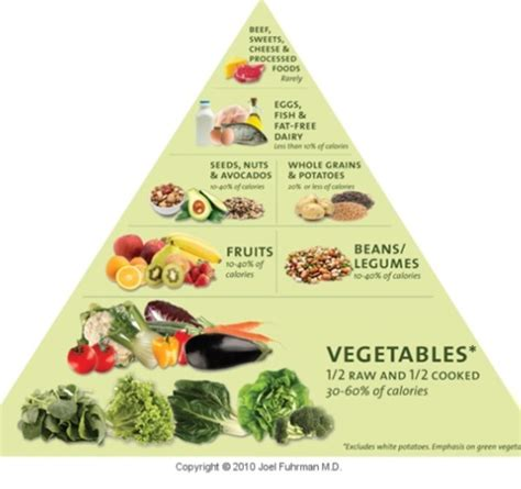Pyramid Gut 1 the correct food pyramid by joel fuhrman m d quot eat to live quot get healthy food