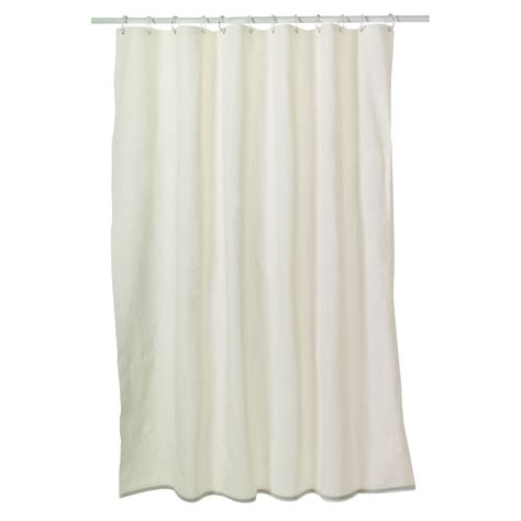 shower curtains kmart essential home shower curtain liner 8 gauge peva