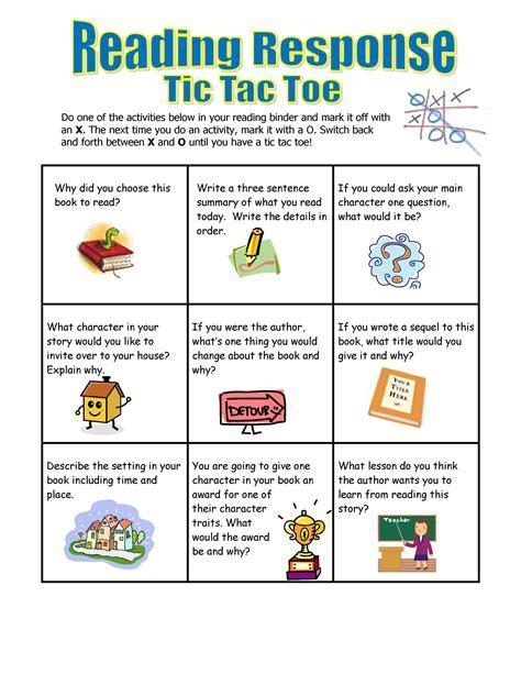printable reading response sheets for kindergarten 5