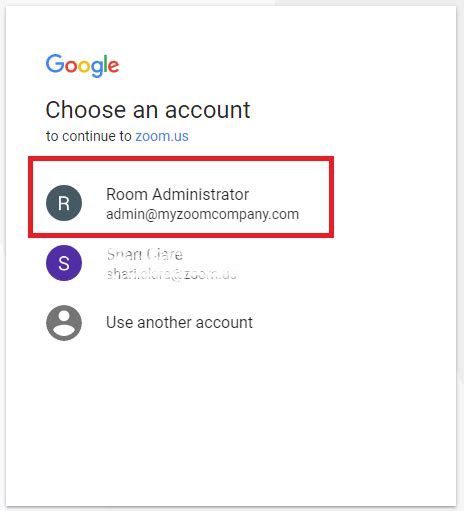 rooms to go account setting up zoom rooms with calendar zoom help center