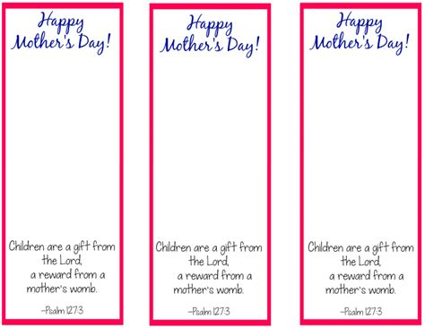 free christian mothers day card template for ms word free printable bookmark craft for s day the