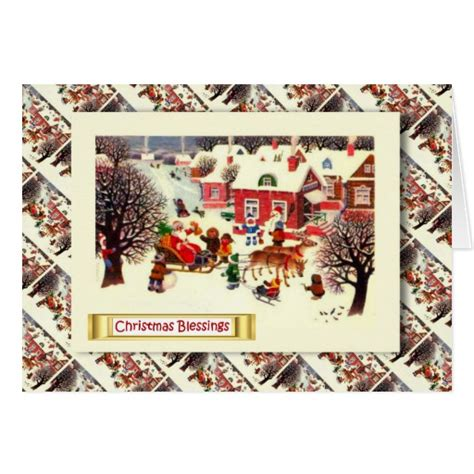 vintage russian christmas gifts from santa card zazzle