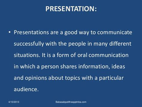 Mba Buisness Communication by Business Communication Ppt Mba Communication Ppt