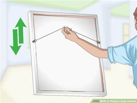 How To Hang A Large Picture how to hang a large canvas 11 steps with pictures wikihow