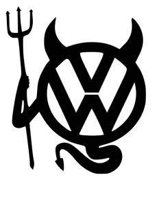 Vw Aufkleber Teufel by Vw Diable Logo Je Vinyl Decal Sticker Vw T4 T5 Cer Golf