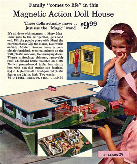 magnetic doll house mid century modern ranch dollhouse magnetic doll house by child guidance