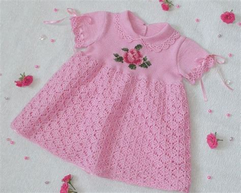 Crochet Pink Dress pink dress with crochet pattern