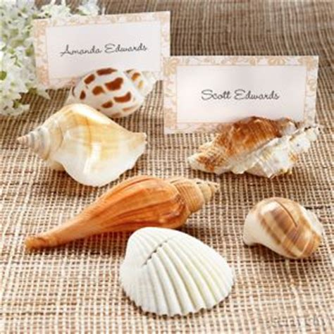 A Sea Of Placecards by Seashell Place Card Holders City