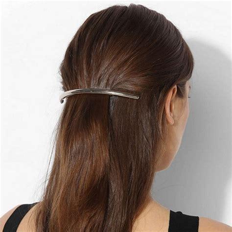 02958 Hair Clip Hairclip 1 pc silver gold metal leaf hair clip hairpin barrette hair accessories headband hair