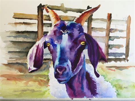 Kaos Splashy Water Colour 11 Tx gotta goats watercolor