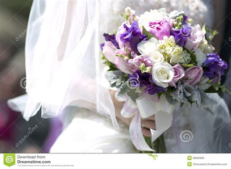pink and purple wedding bouquets