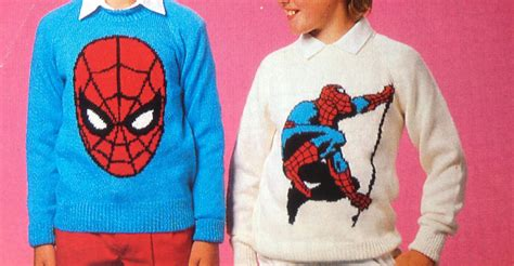 knitting pattern for spiderman jumper spiderman knitting pattern sweaters for children and adults dk
