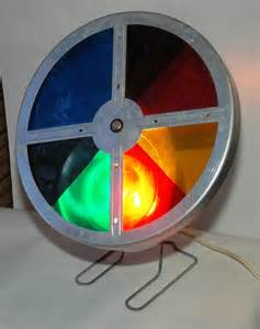 silver tree with color wheel color wheel for aluminum tree early 1960 s