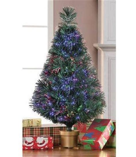 holiday time 32 inch green fiber optic christmas tree