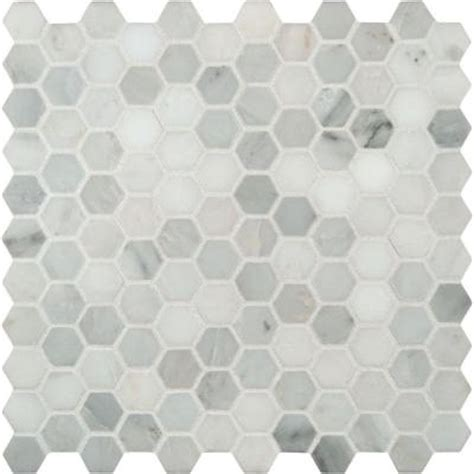 ms international greecian white hexagon 12 in x 12 in x