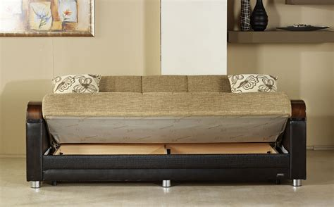 sleeper sofa with storage luna fulya brown convertible sofa bed by istikbal sunset