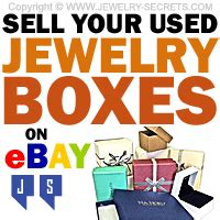 sell your used jewelry boxes on ebay jewelry secrets