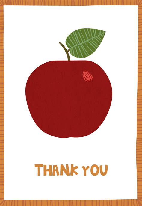 apple pages thank you card templates appreciation apple free appreciation card
