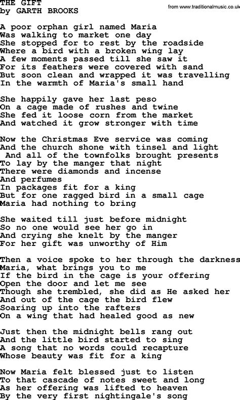 the gift by garth brooks lyrics