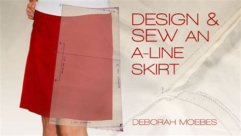 design and sew an a line skirt an sewing class on