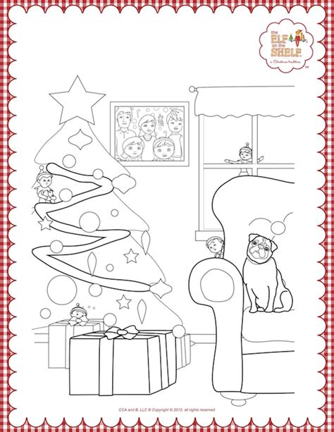 elf on the shelf snowflake coloring pages christmas coloring pages